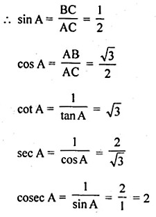 ML Aggarwal Class 10 Solutions for ICSE Maths Chapter 18 Trigonometric Identities Ex 18 7