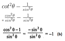 ML Aggarwal Class 10 Solutions for ICSE Maths Chapter 18 Trigonometric Identities MCQS 1