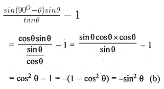 ML Aggarwal Class 10 Solutions for ICSE Maths Chapter 18 Trigonometric Identities MCQS 13