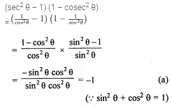 ML Aggarwal Class 10 Solutions for ICSE Maths Chapter 18 Trigonometric Identities MCQS 2