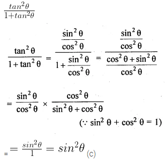 ML Aggarwal Class 10 Solutions for ICSE Maths Chapter 18 Trigonometric Identities MCQS 3