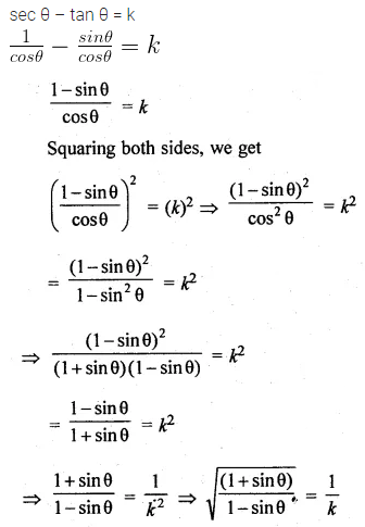 ML Aggarwal Class 10 Solutions for ICSE Maths Chapter 18 Trigonometric Identities MCQS 7