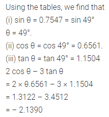 ML Aggarwal Class 10 Solutions for ICSE Maths Chapter 19 Trigonometric Tables Chapter Test 5