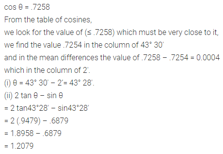 ML Aggarwal Class 10 Solutions for ICSE Maths Chapter 19 Trigonometric Tables Ex 19 12