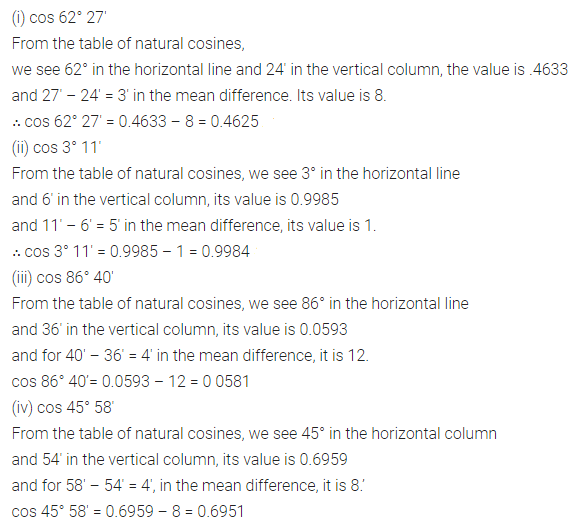 ML Aggarwal Class 10 Solutions for ICSE Maths Chapter 19 Trigonometric Tables Ex 19 2