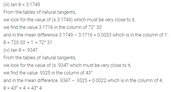 ML Aggarwal Class 10 Solutions for ICSE Maths Chapter 19 Trigonometric Tables Ex 19 8