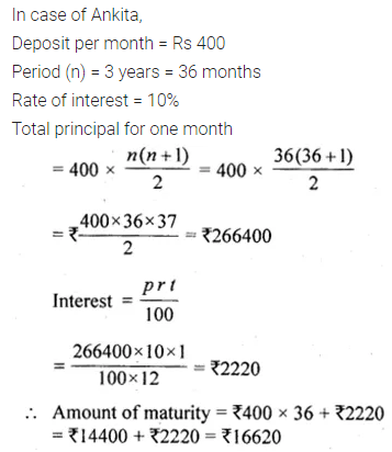 ML Aggarwal Class 10 Solutions for ICSE Maths Chapter 2 Banking Chapter Test 2