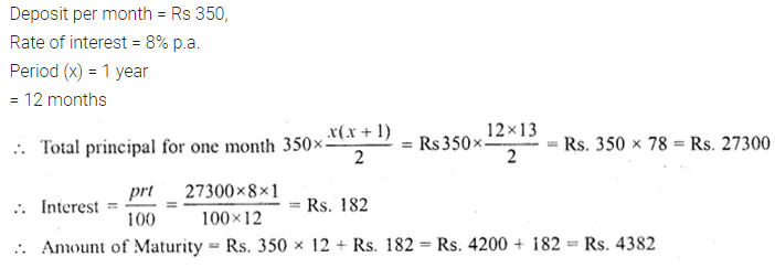 ML Aggarwal Class 10 Solutions for ICSE Maths Chapter 2 Banking Ex 2 1