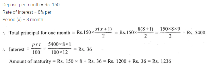 ML Aggarwal Class 10 Solutions for ICSE Maths Chapter 2 Banking Ex 2 2