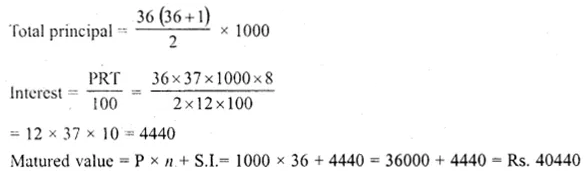 ML Aggarwal Class 10 Solutions for ICSE Maths Chapter 2 Banking Ex 2 3