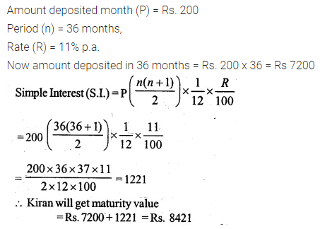 ML Aggarwal Class 10 Solutions for ICSE Maths Chapter 2 Banking Ex 2 4