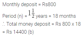 ML Aggarwal Class 10 Solutions for ICSE Maths Chapter 2 Banking MCQS 1
