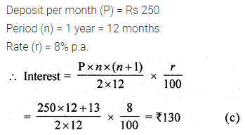 ML Aggarwal Class 10 Solutions for ICSE Maths Chapter 2 Banking MCQS 2
