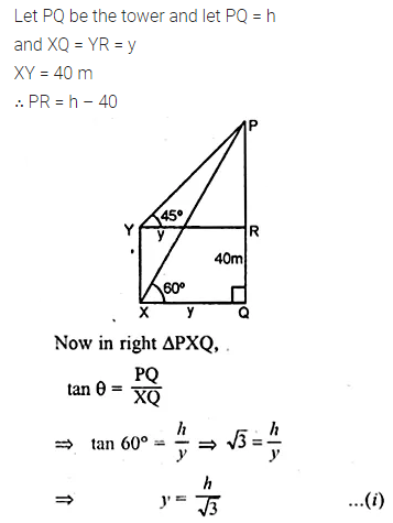 ML Aggarwal Class 10 Solutions for ICSE Maths Chapter 20 Heights and Distances Chapter Test 10