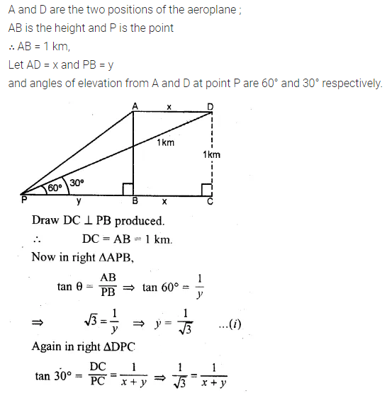 ML Aggarwal Class 10 Solutions for ICSE Maths Chapter 20 Heights and Distances Chapter Test 12