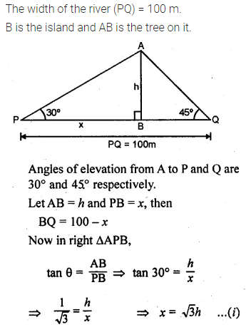 ML Aggarwal Class 10 Solutions for ICSE Maths Chapter 20 Heights and Distances Chapter Test 16
