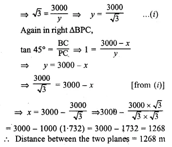 ML Aggarwal Class 10 Solutions for ICSE Maths Chapter 20 Heights and Distances Chapter Test 4