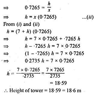 ML Aggarwal Class 10 Solutions for ICSE Maths Chapter 20 Heights and Distances Chapter Test 6