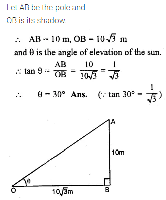 ML Aggarwal Class 10 Solutions for ICSE Maths Chapter 20 Heights and Distances Ex 20 1