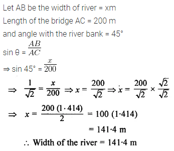 ML Aggarwal Class 10 Solutions for ICSE Maths Chapter 20 Heights and Distances Ex 20 11