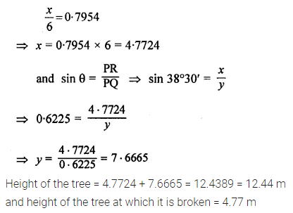 ML Aggarwal Class 10 Solutions for ICSE Maths Chapter 20 Heights and Distances Ex 20 14