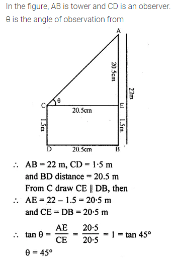 ML Aggarwal Class 10 Solutions for ICSE Maths Chapter 20 Heights and Distances Ex 20 15