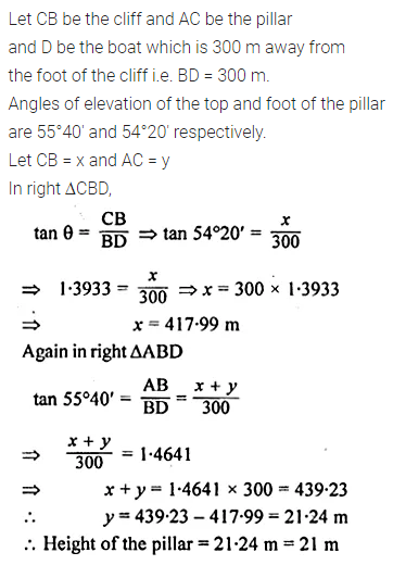 ML Aggarwal Class 10 Solutions for ICSE Maths Chapter 20 Heights and Distances Ex 20 17