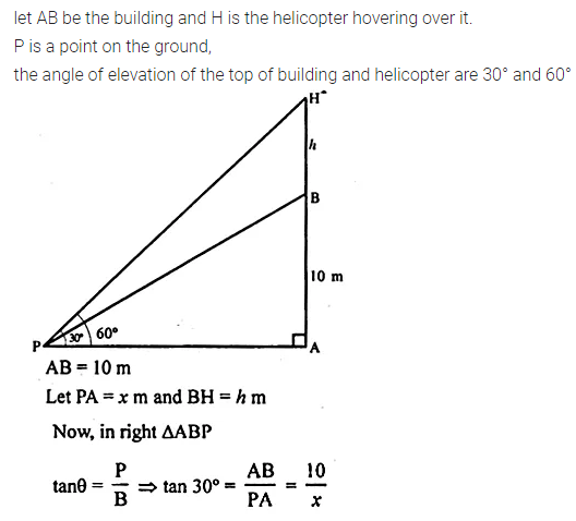 ML Aggarwal Class 10 Solutions for ICSE Maths Chapter 20 Heights and Distances Ex 20 18