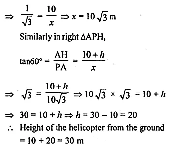 ML Aggarwal Class 10 Solutions for ICSE Maths Chapter 20 Heights and Distances Ex 20 19
