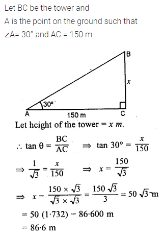 ML Aggarwal Class 10 Solutions for ICSE Maths Chapter 20 Heights and Distances Ex 20 2