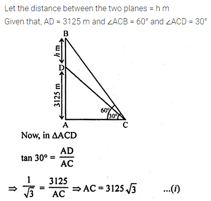 ML Aggarwal Class 10 Solutions for ICSE Maths Chapter 20 Heights and Distances Ex 20 20