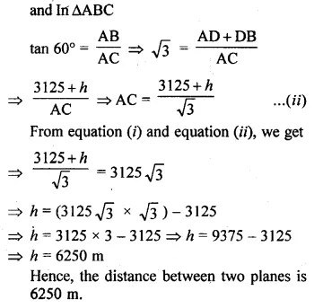 ML Aggarwal Class 10 Solutions for ICSE Maths Chapter 20 Heights and Distances Ex 20 21