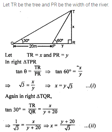 ML Aggarwal Class 10 Solutions for ICSE Maths Chapter 20 Heights and Distances Ex 20 22