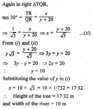 ML Aggarwal Class 10 Solutions for ICSE Maths Chapter 20 Heights and Distances Ex 20 23