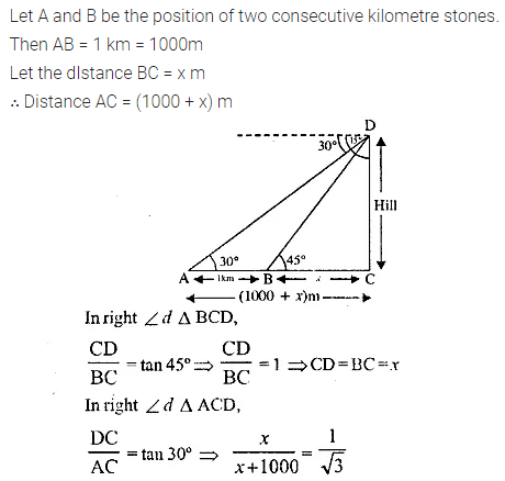 ML Aggarwal Class 10 Solutions for ICSE Maths Chapter 20 Heights and Distances Ex 20 25