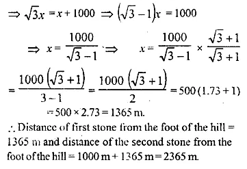 ML Aggarwal Class 10 Solutions for ICSE Maths Chapter 20 Heights and Distances Ex 20 26