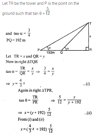 ML Aggarwal Class 10 Solutions for ICSE Maths Chapter 20 Heights and Distances Ex 20 28