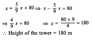 ML Aggarwal Class 10 Solutions for ICSE Maths Chapter 20 Heights and Distances Ex 20 29