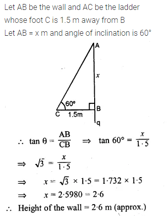 ML Aggarwal Class 10 Solutions for ICSE Maths Chapter 20 Heights and Distances Ex 20 3