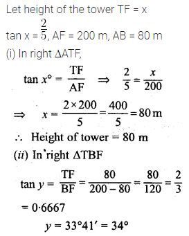 ML Aggarwal Class 10 Solutions for ICSE Maths Chapter 20 Heights and Distances Ex 20 31