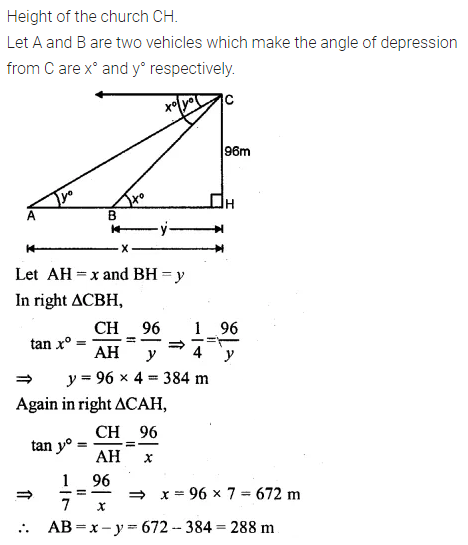 ML Aggarwal Class 10 Solutions for ICSE Maths Chapter 20 Heights and Distances Ex 20 32