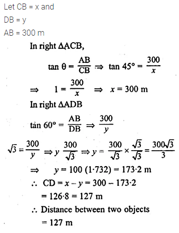 ML Aggarwal Class 10 Solutions for ICSE Maths Chapter 20 Heights and Distances Ex 20 34