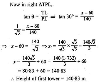 ML Aggarwal Class 10 Solutions for ICSE Maths Chapter 20 Heights and Distances Ex 20 36