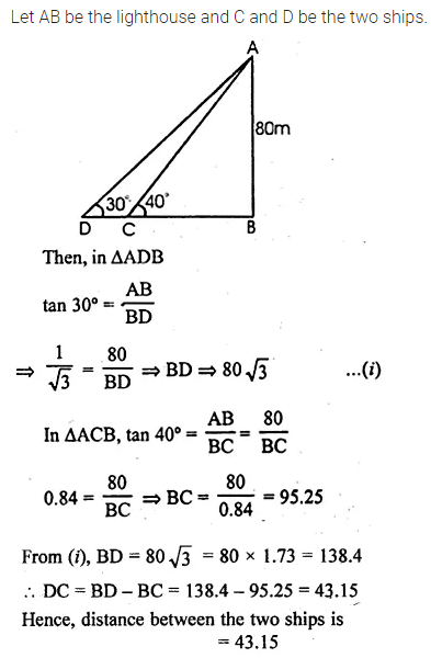 ML Aggarwal Class 10 Solutions for ICSE Maths Chapter 20 Heights and Distances Ex 20 37