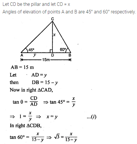 ML Aggarwal Class 10 Solutions for ICSE Maths Chapter 20 Heights and Distances Ex 20 38