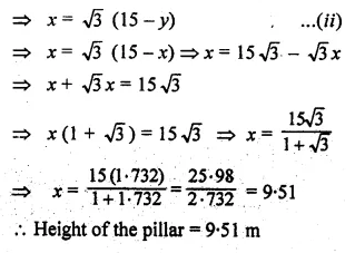 ML Aggarwal Class 10 Solutions for ICSE Maths Chapter 20 Heights and Distances Ex 20 39