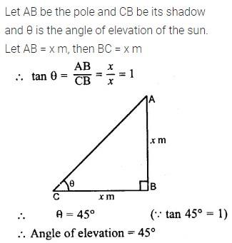 ML Aggarwal Class 10 Solutions for ICSE Maths Chapter 20 Heights and Distances Ex 20 4