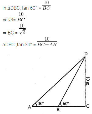 ML Aggarwal Class 10 Solutions for ICSE Maths Chapter 20 Heights and Distances Ex 20 40