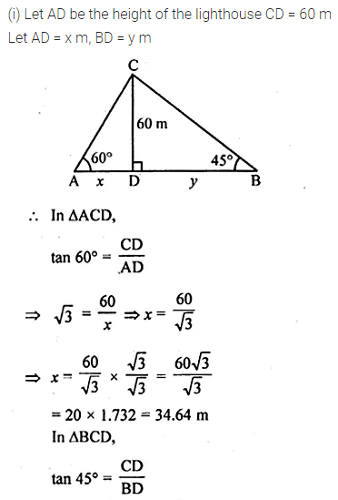 ML Aggarwal Class 10 Solutions for ICSE Maths Chapter 20 Heights and Distances Ex 20 42