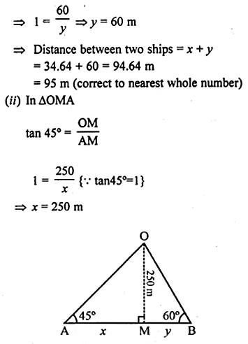 ML Aggarwal Class 10 Solutions for ICSE Maths Chapter 20 Heights and Distances Ex 20 43